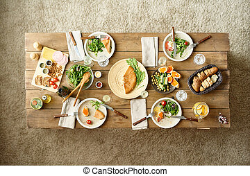 tavola, cena, festivo