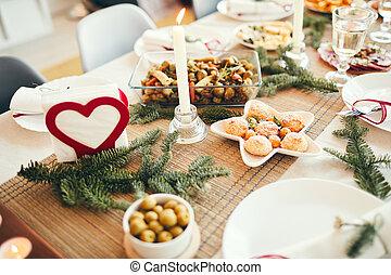 tavola, cena, natale