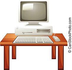 tavola, computer, set