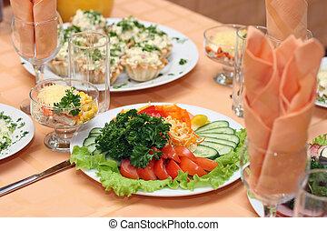 tavola, coperto, ristorante