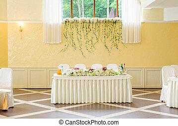 tavola, decorato, matrimonio