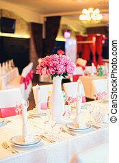 tavola, decorato, ristorante