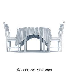 Tovaglia render questo illustrazione sedie tavola for Tavola e sedie