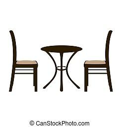 Sedie tavoli balcone terrazzo illustrazione vettore di for Tavola e sedie