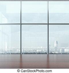 tavola, finestra, ufficio