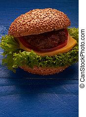 tavola, hamburger