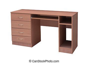 tavola legno, bianco, fondo.