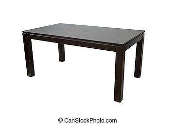 tavola legno, bianco, isolato, fondo