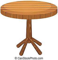 tavola legno, bianco, rotondo, fondo