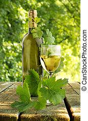 tavola legno, bianco, wineglass