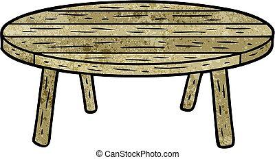 tavola legno, cartone animato