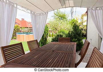 tavola legno, giardino