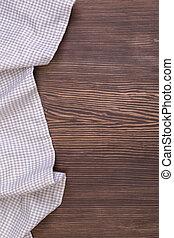 tavola legno, tovaglia, checkered