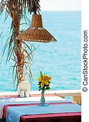 tavola, mare, ristorante