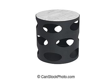 tavola, metallo, rotondo