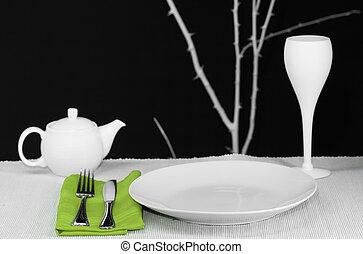 tavola, moderno, set