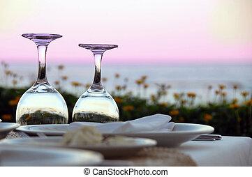 tavola, per, cena