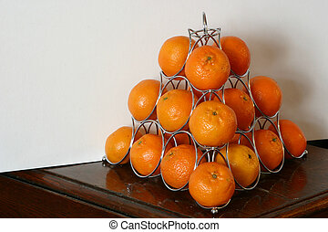tavola, piramide, arance