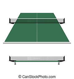 tavola, pong, ping, tennis, rete