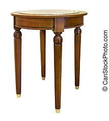 tavola, quercia bianca, isolato, fondo