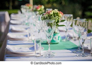 tavola, ricezione, matrimonio