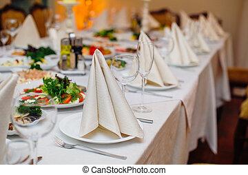 tavola, ristorante, matrimonio, banchetto, festivo