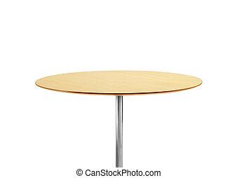 tavola rotonda, isolato, bianco, fondo