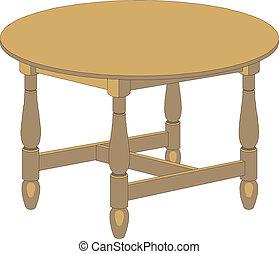 tavola rotonda, legno