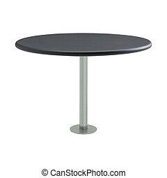 tavola, rotondo, isolato