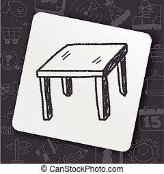 tavola, scarabocchiare