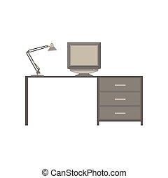 Grafica illustrazione computer scrivania ufficio - Tavola grafica per pc ...