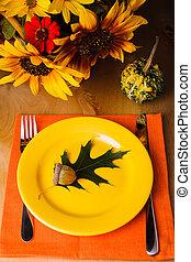 tavola, servire, ringraziamento