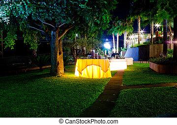 tavola, set, giardino