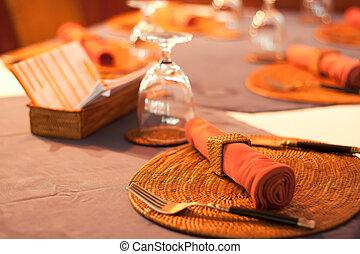 tavola, set, pasto