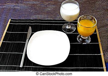 tavola, set, per, cena