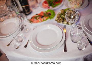 tavola, set, per, un, evento, festa