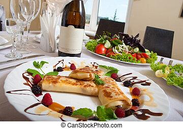 tavola, set, per, uno, cena