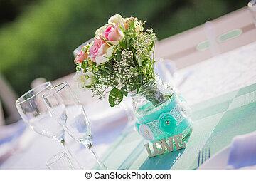 tavola,  set, ricezione, matrimonio