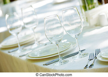 tavola, set, ristorazione