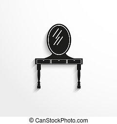 tavola, specchio, abbigliamento, Mobilia, pezzi
