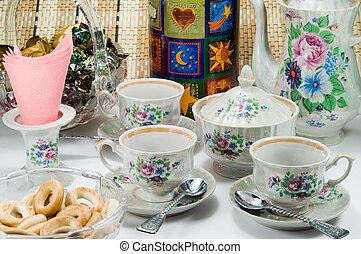 tavola, tè bevente