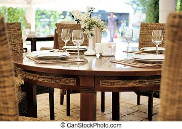 tavola, terrazzo, ristorante