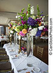 tavola, testa, florals