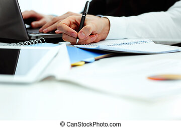 tavola, ufficio, lavorativo, businesspeople