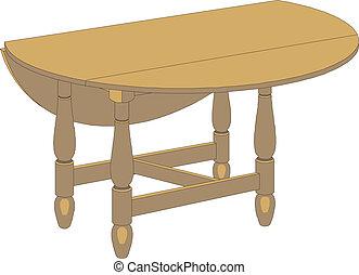 tavola, vettore, legno