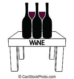 tavola, vino