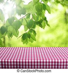 tavola, vuoto