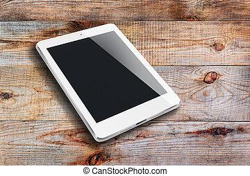 tavoletta, computer, con, nero, screen.