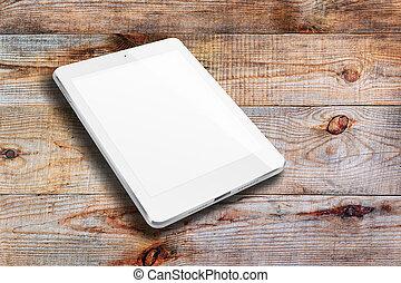 tavoletta, computer, con, vuoto, screen.