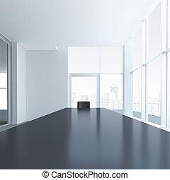 tavolo conferenza, sedia, uno